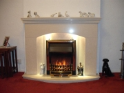 Dimplex Ashington Electric Fire in Marble Fireplace with Lights, Southport, Merseyside