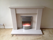 Dimplex Aspen Electric Fire in Marble Fireplace, Hesketh Bank, Preston, Lancashire