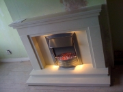 Dimplex Aspen Electric Fire in Marble Fireplace with Lights, Eccleston, Preston, Lancashire