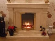 Dimplex Danesbury Electric Fire in Marble Fireplace, Tarleton, Preston, Lancashire