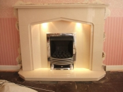 EKO 3010 Gas Fire in Marble Fireplace with Lights, Marshside, Southport, Merseyside