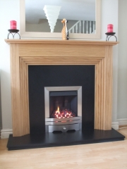 EKO 3010 Gas Fire in Wooden Fireplace, Hesketh Bank, Preston, Lancashire