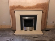 Limestone and Granite Fireplace with Legend Vantage Gas Fire, Hesketh Bank, Preston, Lancashire