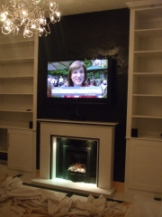 Legend Vantage Gas Fire in Marble Fireplace with Lights, Churchtown, Southport, Lancashire
