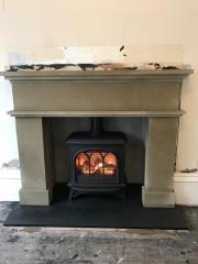 Gazco Huntingdon 40 Gas Stove, Sandstone Mantle Slate Heart, Garstang, Lancashire