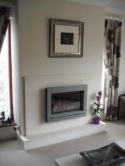 Gazco Riva 67 with Designio Trim in Made To Measure Limestone Fireplace, Hesketh Bank, Preston