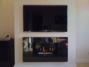 ​Hole in the Wall Gas Fire with Black Granite Fascia, Much Hoole, Preston, Lancashire