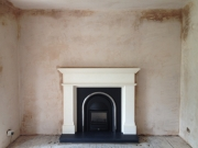 Cast Tec Solid Fuel Integra in Limestone Fireplace 1, Hightown, Formby, Merseyside