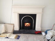 Cast Tec Solid Fuel Integra in Limestone Fireplace 5, Hightown, Formby, Merseyside